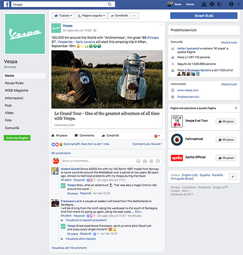 facebook vespa official