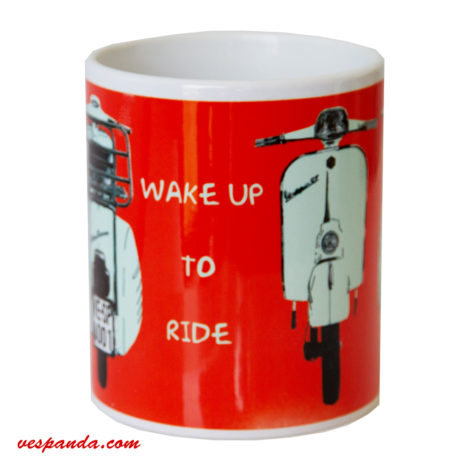 Wake up to ride Vespa