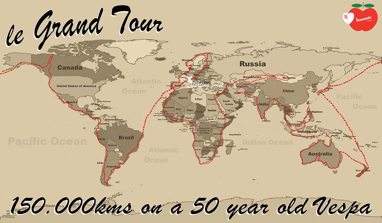 mappa viaggio grand tour